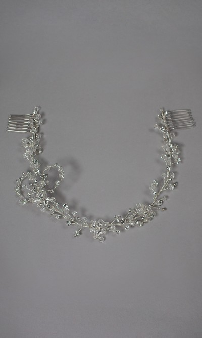 Tiara flexible de cristales y diamantes